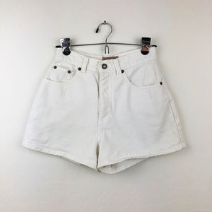 Vintage Express High Waisted White Shorts